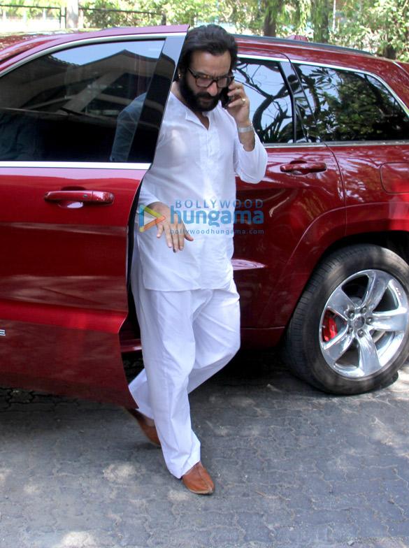 Saif Ali Khan snapped at Bandra