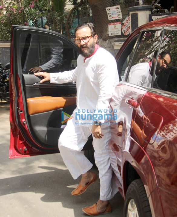 Saif Ali Khan snapped at a recording studio in Bandra