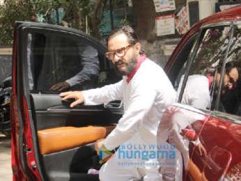 Saif Ali Khan snapped at a recording studio in Bandra