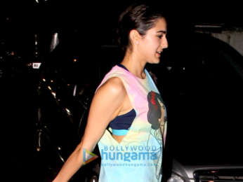 Sara Ali Khan spotted after her gym session