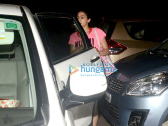 Sara Ali Khan spotted after her gym session in Bandra