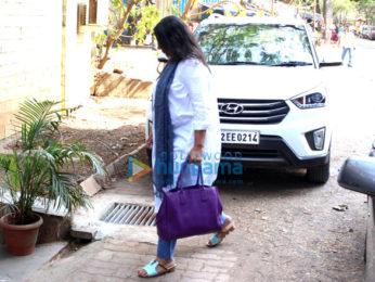 Shabana Azmi snapped in Juhu