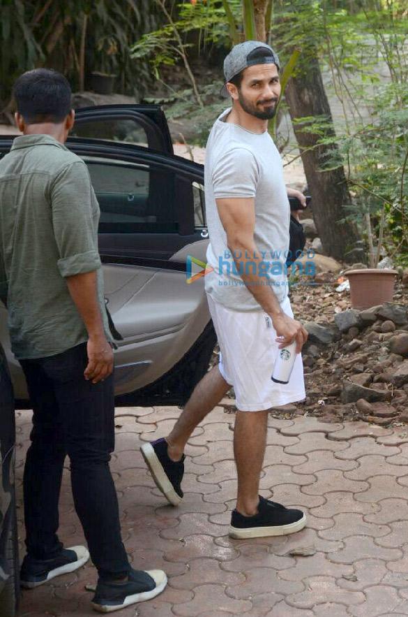 Shahid Kapoor at dance rehearsals at Bandra