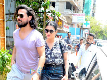 Shruti Haasan snapped with her boyfriend at Farmers Cafe in Bandra