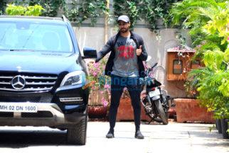 Sidharth Malhotra spotted at gym in Bandra