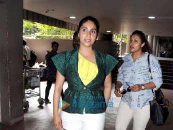 Singer Neha Bhasin snapped at Mumbai airport as she returns from Goa