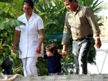 Taimur Ali Khan, Soha Ali Khan snapped with family in Bandra