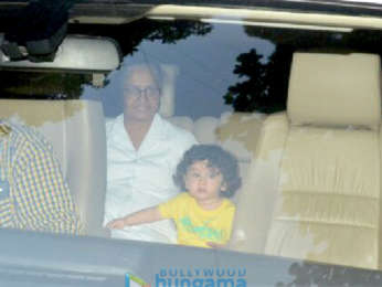 Taimur Ali Khan snapped grandma Babita Kapoor's home at Khar