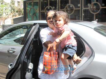 Taimur Ali Khan snapped outside his play school
