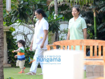 Taimur Ali Khan spotted with his nanny at Amrita Arora's house