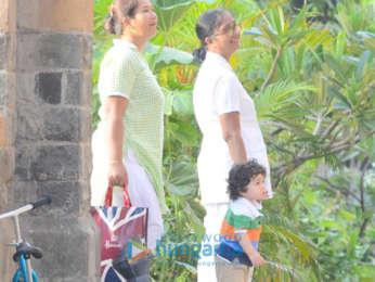 Taimur Ali Khan spotted with his nanny at Amrita Arora's house