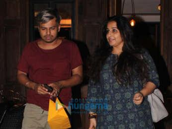 Vidya Balan spotted at Nut Craker restaurant in Bandra