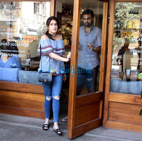 Zahir Khan and Sagarika Ghatge spotted at a suburban restaurant