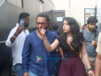 Aamir Khan snapped with his daughter Ira in Mumbai