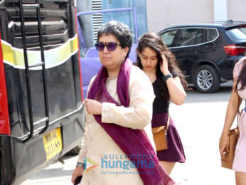 Aamir Khan's ex wife Reena Dutta snapped with her daughter Ira at a studio in Mumbai