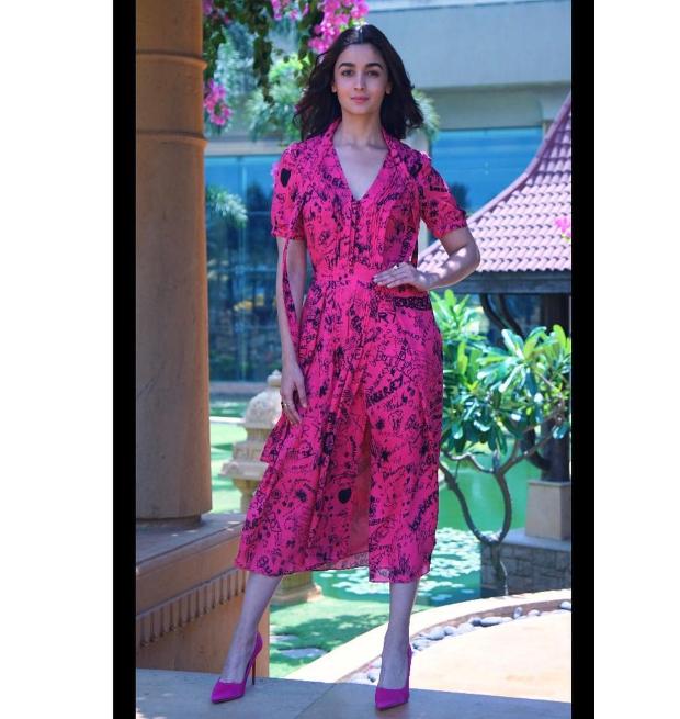 Alia Bhatt in Burberry for Raazi promotions