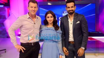 Alia Bhatt promotes Raazi on the sets of Kent Cricket Live