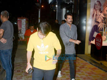 Anil Kapoor snapped at Bastian in Bandra