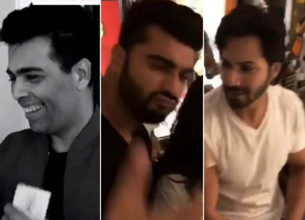 WATCH: Arjun Kapoor, Jacqueline Fernandez, Varun Dhawan, Karan Johar gear up for sangeet ceremony of Sonam Kapoor- Anand Ahuja