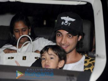 Arpita Khan Sharma, Loveratri stars Aayush Sharma, Warina Hussain and others snapped at the airport