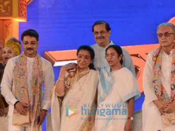 Asha Bhosle conferred with the Banga Bibhushan Award by the West Bengal CM Mamata Banerjee