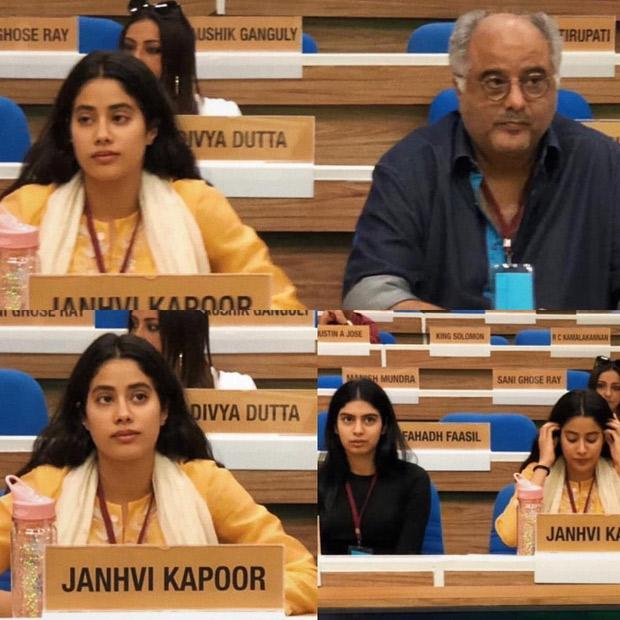 Boney Kapoor, Janhvi Kapoor and Khushi Kapoor rehearse in Delhi to receive National Award for late Sridevi