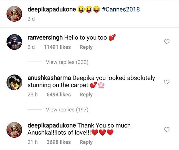 Cannes 2018: After Ranveer Singh, Anushka Sharma shows some 'Girl Love' to Deepika Padukone