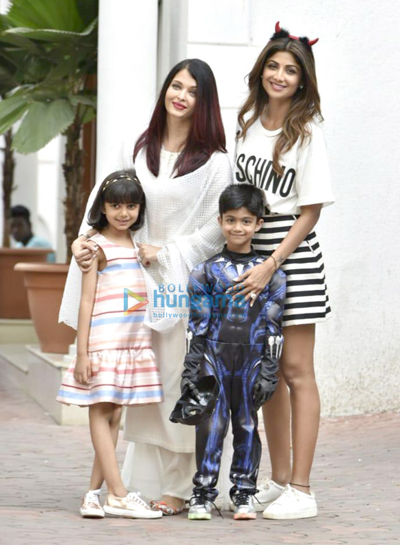 Celebs grace Shilpa Shetty's son Viaan's birthday party at their residence in Juhu