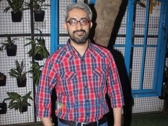 Diana Penty, John Abraham and Abhishek Sharma snapped doing media interactions for their film Parmanu at Bombay Adda