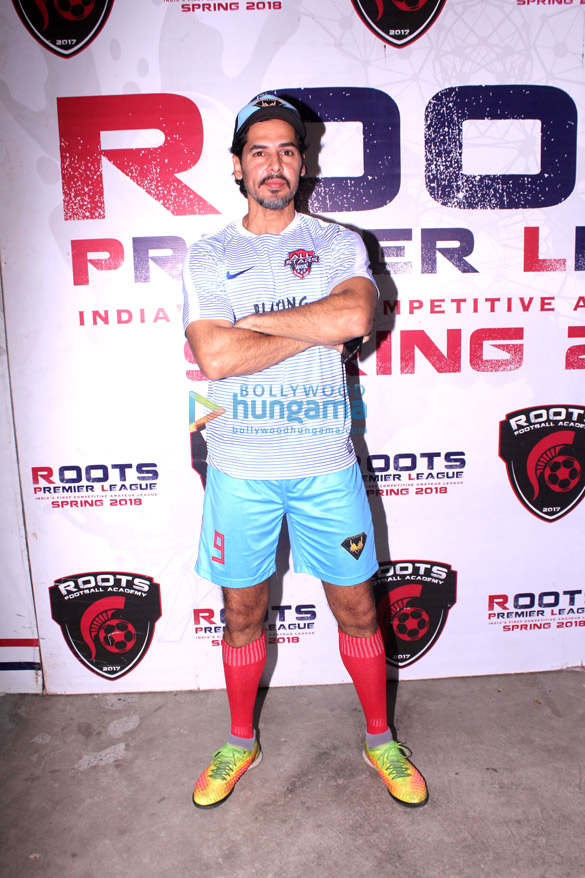 Dino Morea snapped at Roots Premiere League