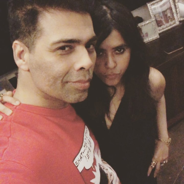 Ekta Kapoor gives a glimpse of her 'date night' with Karan Johar