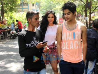 Nimrat Kaur, Ishaan Khatter and Malavika Mohanan at The Kitchen Garden