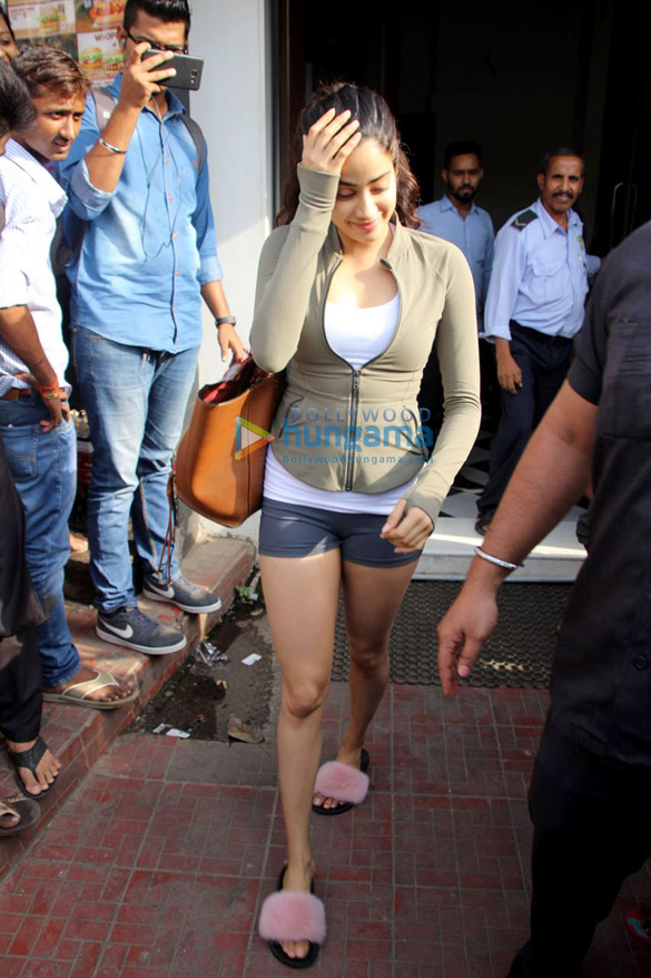 Janhvi Kapoor spotted at Bastian in Bandra