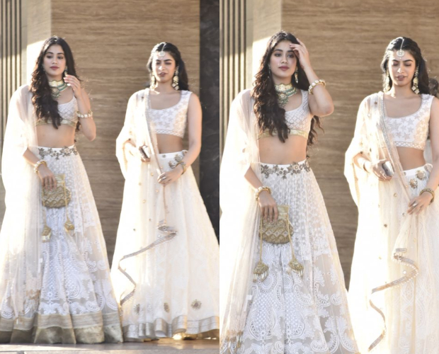 Janhvi and Khushi Kapoor at Sonam Kapoor's Mehendi and Sangeet ceremony