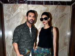 John Abraham and Diana Penty snapped at Lower Parel