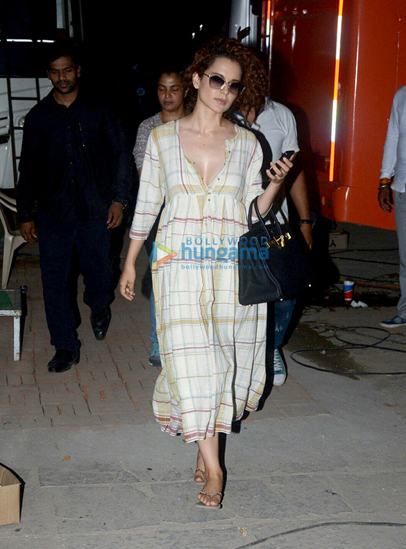 Kangana Ranaut and Rajkummar Rao spotted post shoot of 'Mental Hai Kya'