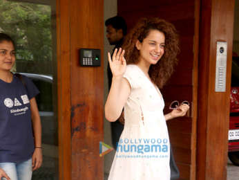 Kangana Ranaut snapped at Komal Jain's office in Juhu