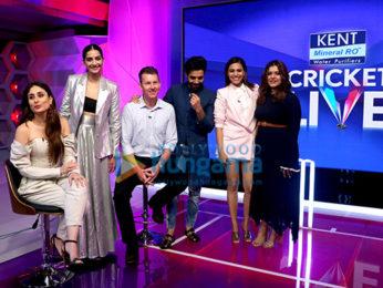 Kareena Kapoor Khan, Sonam Kapoor Ahuja, Swara Bhaskar, Shikha Talsania snapped promoting Veere Di Wedding on Kent Cricket Live at Star Sports Studio