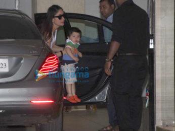 Kareena Kapoor Khan and Taimur Ali Khan spotted at his grandmother's house
