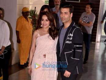 Madhuri Dixit and Karan Johar attend the trailer launch of the film Bucket List