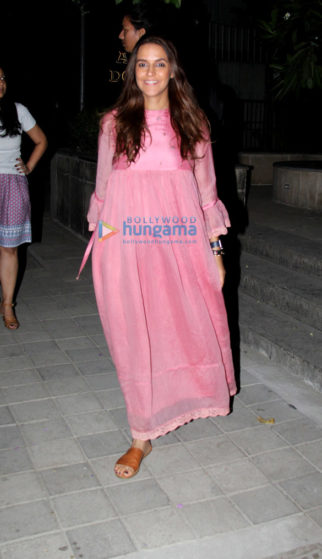 Neha Dhupia spotted at Anita Dongre's store in Khar
