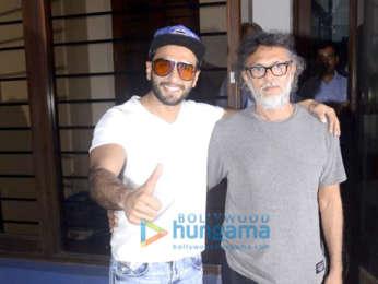 Ranveer Singh snapped at Rakeysh Omprakash Mehra's office