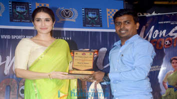 Sagarika Ghatge snapped promoting her film Monsoon Football