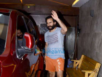 Saif Ali Khan spotted at a clinic in Bandra