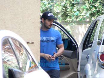 Shahid Kapoor, Sooraj Pancholi and Nidhhi Agerwal snapped at the gym