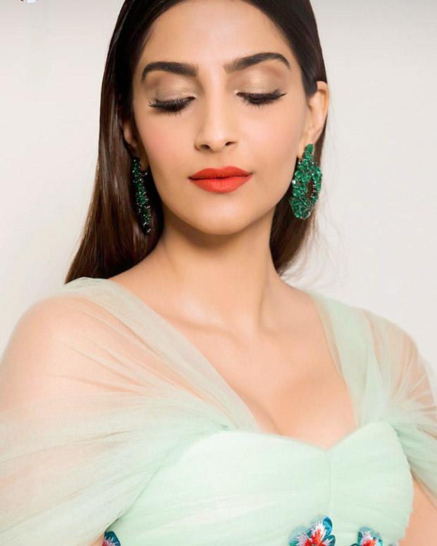 Sonam Kapoor sports statement earrings from Degrisogono