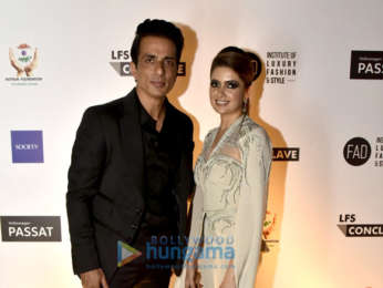 Sonu Sood and Iulia Vantur at Hothur foundation