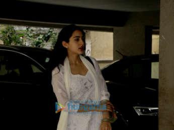 Sushant Singh Rajput and Sara Ali Khan spotted at Abhishek Kapoor's office