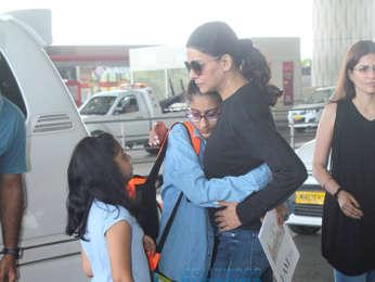 Sushmita Sen and Sagarika Ghatge snapped at the airport