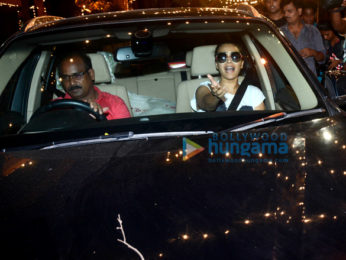 Swara Bhaskar and Rhea Kapoor spotted at Anil Kapoor's home at Juhu